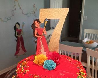 Elena of Avalor Cake Topper - Elena of Avalor Birthday - Elena of Avalor Party Decorations