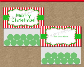 EDITABLE CHRISTMAS Treat Bag Toppers, Christmas Candy Bag Toppers, Holiday Bag Toppers, Holiday Bag Tags, Bag Labels, Party Supplies CSV
