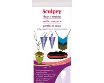 Sculpey Jewelry Shapes Design It Templates Stencils, 40 shapes, polymer clay templates, jewelry stencils