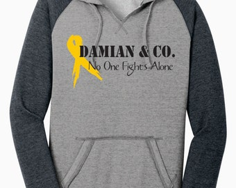 Damian & Co.  No One Fights Alone - Fundraiser Hoodie {Juniors Size}