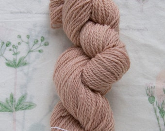 Naturally Dyed Baby Pink Wool Yarn