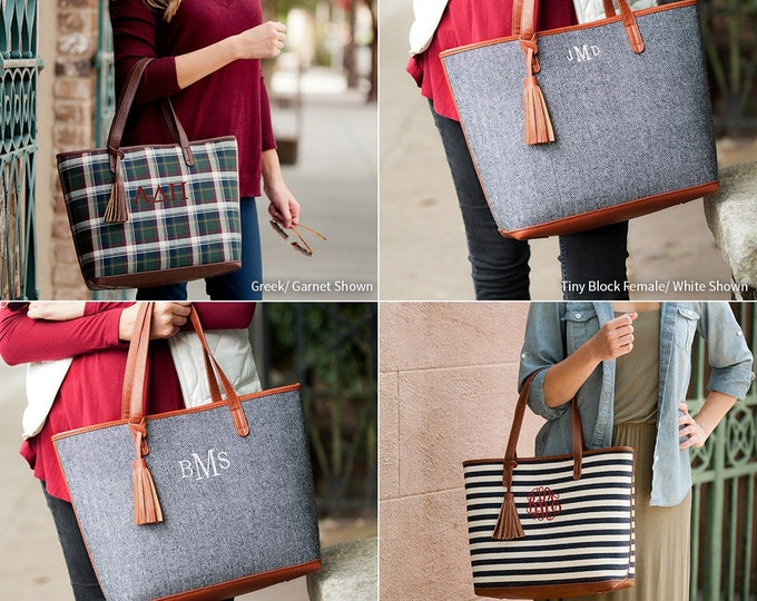 Monogram Purse, Monogrammed Gifts, Townsend, Avery Plaid, Chandler Stripe, Monogrammed Handbag, Purse, Shoulder bag