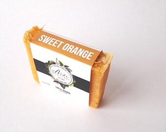 Sweet Orange Soap, Orange Soap, Handmade Soap, Vegan Soap, Eco-Friendly Soap, Cold Process Soap, Small Batch Soap