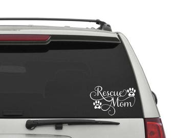 Rescue Mom Car Decal