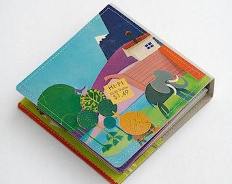 14 CD/ DVD Wallet, CD Holder Book Handmade from Upcycled Album Cover, Dvd Storage, Cd Case, Cd Packaging