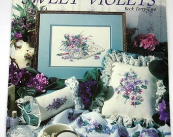 """Counted Cross Stitch Paula Vaughan """"Sweet Violets"""""""