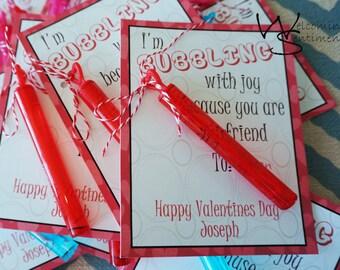 I'm Bubbling With Joy valentine