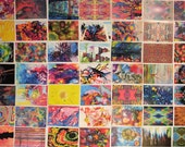 Set of 50+ Postcrossing Art Postcards - Free Shipping