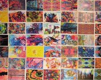 Set of 50+ Postcrossing Art Postcards - Free Shipping