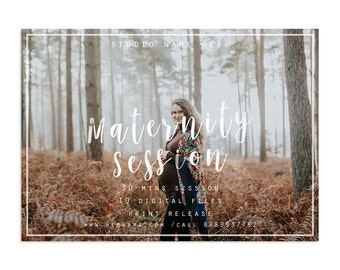 7x5in Maternity Session Marketing Template, Photography Marketing Board Template, Newsletter Template