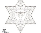 Menorah Printable-Star of...