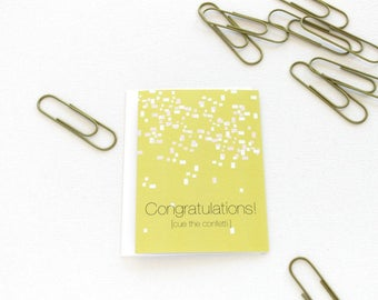 Engagement Card, Wedding Card, Graduation Card, Congratulations Card, Girl Boss Confetti Congrats, Retirement Card, New Baby Card - 149C