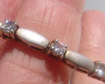 Sterling Silver CZ Tennis Bracelet 588.