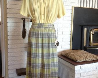 Nifty 1950's Plaid Pleat Skirt!!