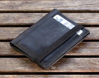 Black leather wallet, Mens wallet, Leather wallets