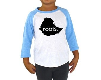 Ethiopia Roots Tri-blend Raglan Baseball Shirt