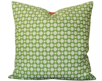 Schumacher Betwixt Pillow Cover in Leaf Green