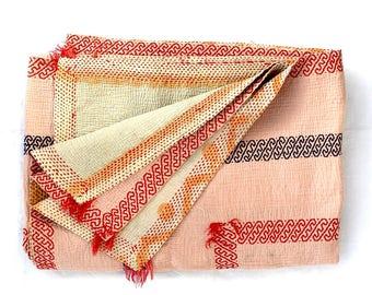 vintage kantha quilt, kantha quilt, bangladeshi quilt, kantha throw, coverlet, kantha quilt, blanket throw, sari quilt