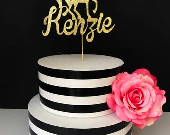 Unicorn Cake Topper- custom cake topper- Centerpiece- gold