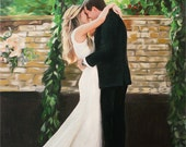 Wedding Gift Personalized Painting Custom Portrait on Canvas from Photo