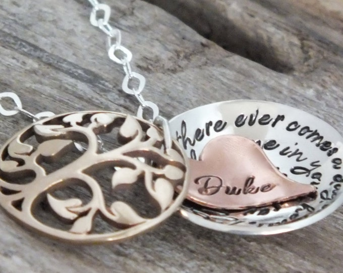 Hand stamped Hidden Message Locket - memorial jewelry - remembrance gift - necklace - customize it with names or phrase