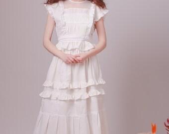 Bohemian wedding dress,Alternative wedding dress,Boho wedding dress,Beach wedding,Edwardianwedding dress,White dress,Hippie wedding dress