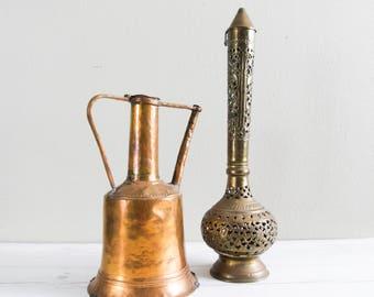 Vintage Copper Pitcher Ewer Aftaba