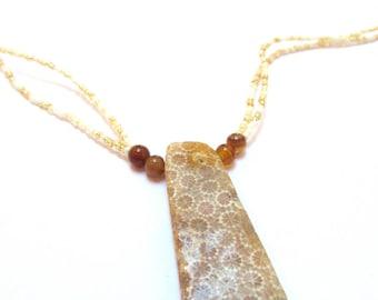 Chrysanthemum Stone Necklace