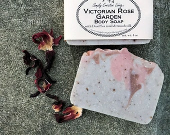 Victorian Rose Body Soap - Old-Fashioned Rose Scent