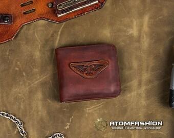 Imperium steampunk leather wallet for men