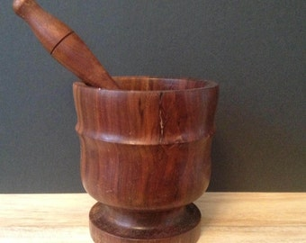 beautiful wooden mortar & pestal Made in Portugal for Pernes