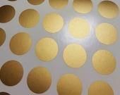 Gold Polka Dots Wall Decal, Gold Polka Dot Decal, Metallic Golden Polka Dot Vinyl Wall Art, Gold Vinyl Wall Decals, Gold Confetti Decals
