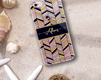Tribal clear iphone 8 case, Aztec Iphone 6 case transparent, Gift for her, Birthday presents under 25, Blue iPhone case clear (1426)