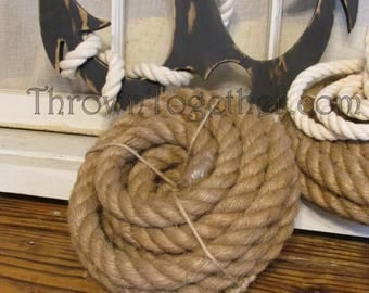 Jute Rope, 15FT of 20mm Natural Woven Jute Rope, Natural Jute Home Decor, Craft Rope