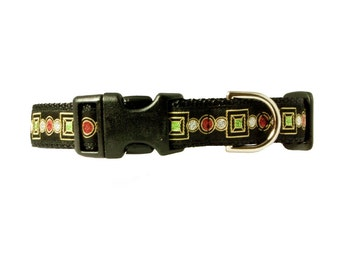 "Sparkle Dog 3/4"" Collar Black Dog Collar"