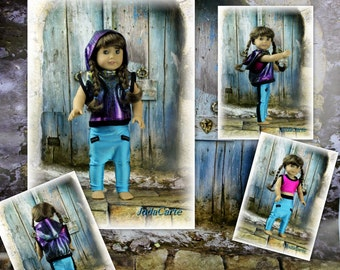 """Hiphop Outfit for 18"""" Doll"""