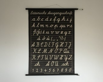 alphabet wall chart etsy. Black Bedroom Furniture Sets. Home Design Ideas