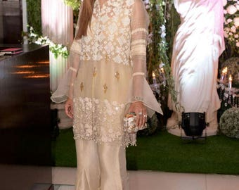 Luxury Pret, organza, Indian/pakistani formal shalwar kameez, formal pakistani clothes, indian, bengali dresses