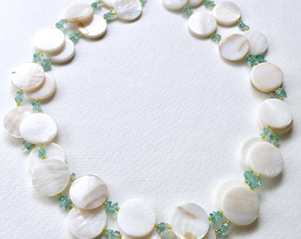 Creamy White MOP Necklace by KarenWhalenDesigns
