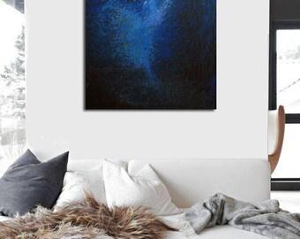 Abstract Art Print, Cobalt Blue Canvas Art Giclee Art Print, Abstract Ballet Art, Ballerina Print of Painting
