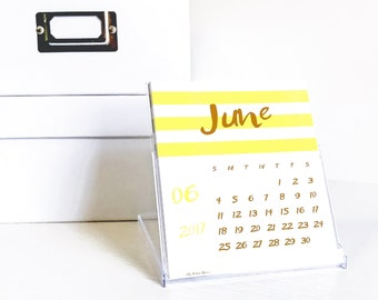 Desk Calendar with CD Case Stand, Modern Colorful Desktop Accessories, Gift For Wife or Girlfriend, Trendy Teacher