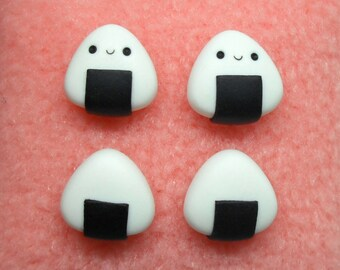 Cute mini onigiri polymer clay stud earrings