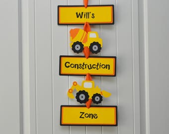 Construction Party Door Sign, Construction Vehicles Door Sign, Construction Birthday Party