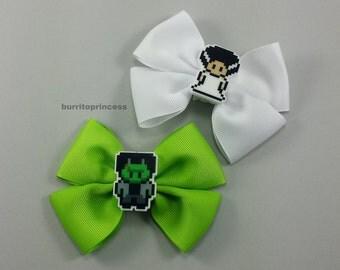 Hair Bows - Frankenstein Hair Bow - Bride of Frankenstein Hair Bow - Frankenstein Bow - Bride of Frankenstein Bow - Frankenstein Cosplay