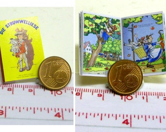 "1032# German Childrens book ""Die Struwwelliese"" - Doll house miniature in scale 1/12"