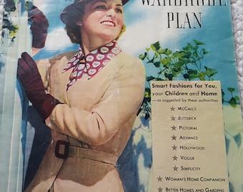 Singer All Star Wardrobe Plan 1936