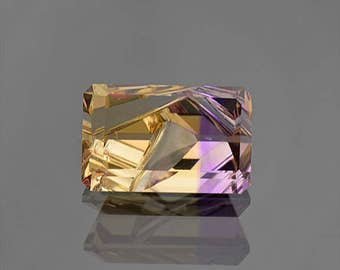 Fantastic Hand Carved and Faceted Ametrine Gemstone from Bolivia 6.29 cts.