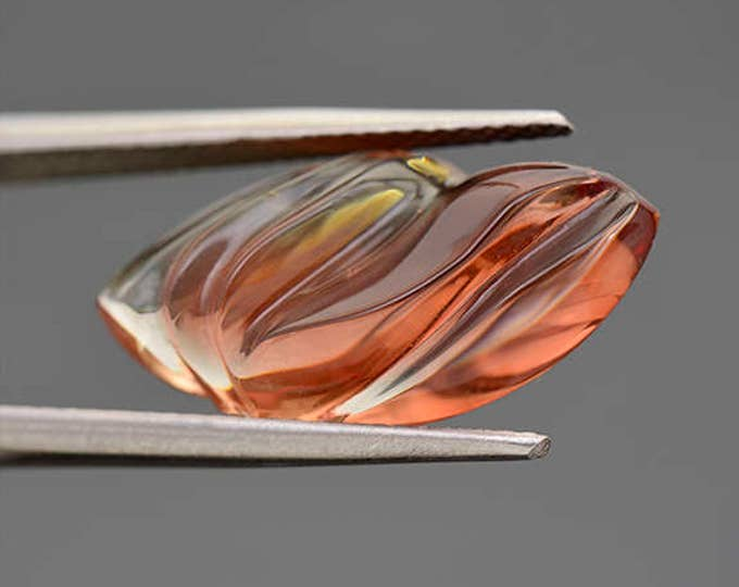 UPRISING SALE! Fantastic Red Sunstone Freeform Carving from Oregon 7.29 cts.