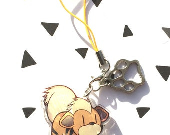 Acrylic clear charm Growlithe  (Pokémon)