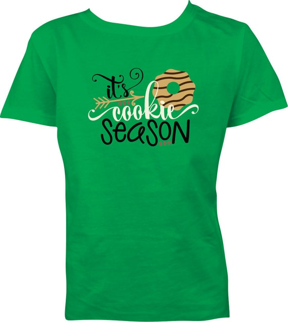 Items similar to it 39 s cookie season girls t shirt cookie for Selling shirts on etsy
